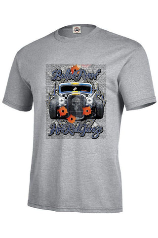 Bullet Proof Hot Rod Garage Mens Short or Long Sleeve Car T Shirt 17052