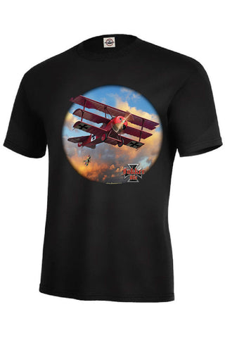 Fokker Tri Plane World War I German Airplane Mens Short or Long Sleeve T Shirt 21287D3