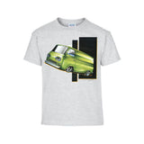 Vintage Customized Big Three Green Delivery Van Adult Unisex T Shirt Brent Gill Design D-POS439