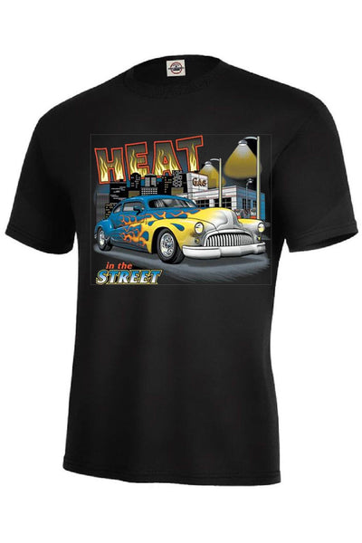 Heat in the Street Jumbo Size Graphic Vintage Car Adult Unisex Quality Short or Long Sleeve T Shirt 1477