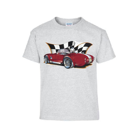 Vintage Red Cobra Racing Car Adult Unisex T Shirt Brent Gill Design POS347