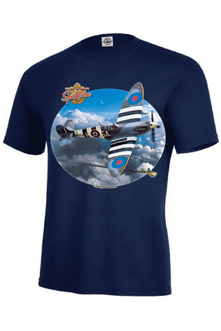 Spitfire World War II English Airplane Mens Short or Long Sleeve T Shirt 21347HD2
