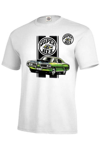 Dodge Green Super Bee Car Licensed Adult Unisex SHORT SLEEVE T Shirt 21144HL1