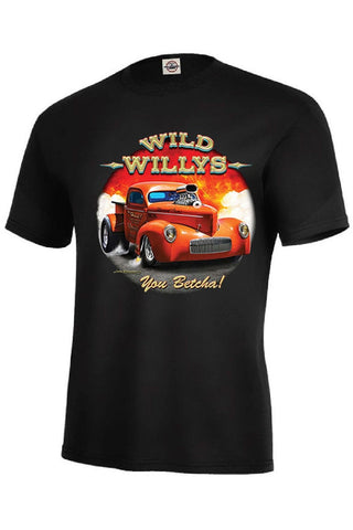 Wild Willys Mens Short or Long Sleeve Car T Shirt 21305D3