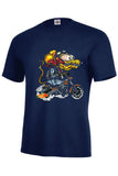 Cartoon Yellow Monster Orange Cycle Mens Short or Long Sleeve T Shirt 18033