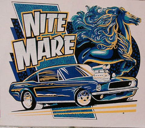 Nite Mare Pony Car Hot Rod Custom Mens T Shirt