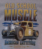 Old School Muscle Car American Rattitude Mens Short and Long Sleeve T Shirt 17028