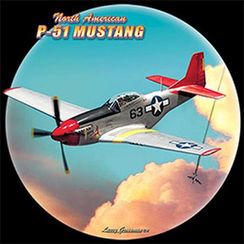 P 51 Mustang World War II Airplane Mens Short or Long Sleeve T Shirt 21290D3