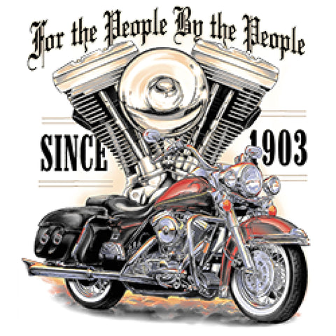 For the People By The People Adult Unisex Quality Motorcycle Short or Long Sleeve T Shirt 22812D1