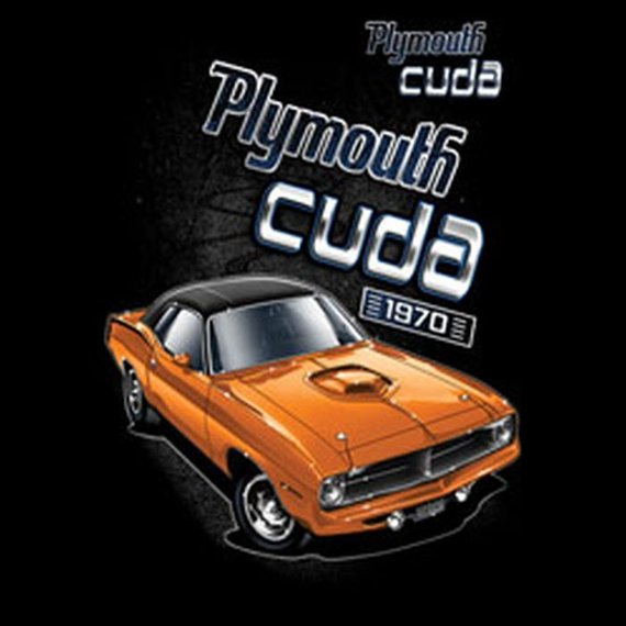Plymouth Cuda Licensed Mens Short or Long Sleeve Car T Shirt 20416D2