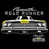 1969 Plymouth Road Runner Muscle Car Mens Short or Long Sleeve T Shirt 21145D2