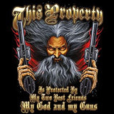Protected by God and Guns Long or Short Sleeve T Shirt 20806
