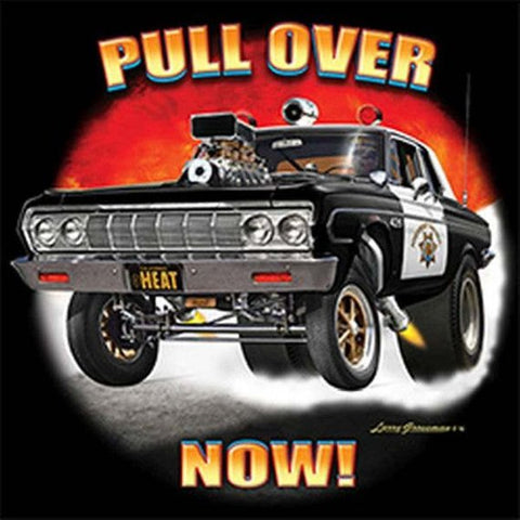 Pull Over Now Police Car Highwat Patrol California Adult Mens Short or Long Sleeve T Shirt 21302D3