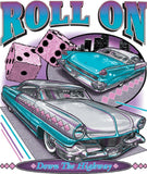 Roll On Down the Highway Vintage Cars Adult Unisex T Shirt 1947