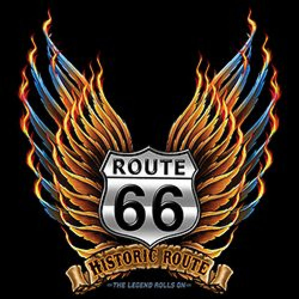 Route 66 Wings Historic Route Sign Adult Unisex Quality Short or Long Sleeve T Shirt 22677D1