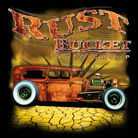 Rust Bucket Auto Group Hot Rod Mens Short or Long Sleeve T Shirt 17074
