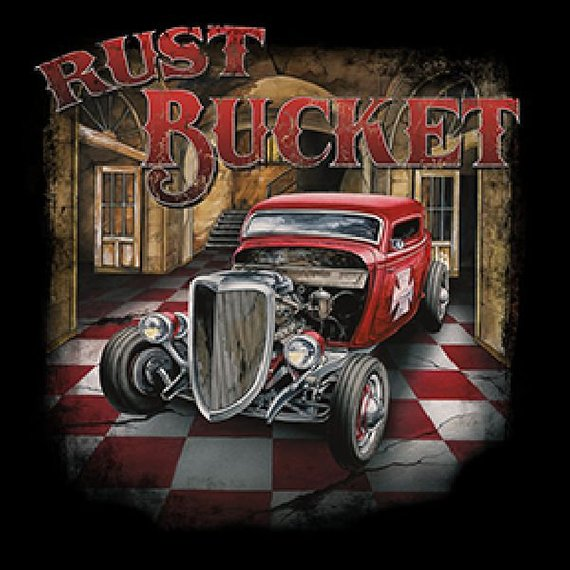 Rust Bucket Hot Rod Mens Short or Long Sleeve Car T Shirt 19115