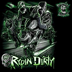 Rydin Dirty Street Wild GIANT GAPHIC Adult Unisex Quality Motorcycle Short or Long Sleeve T Shirt 11497D0