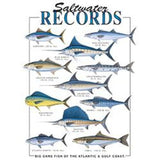 Fishing T Shirt Record Saltwater Fish Caught in Atlantic and Gulf Cost Unisex Adult T Shirt 06030HLO