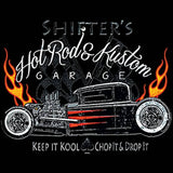 Shifters Hot Rods and Kustom Garage Mens Short or Long Sleeve Car T Shirt 17050