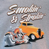 Smokin and Strokin Hot Rod Mens Short or Long Sleeve T Shirt 17363