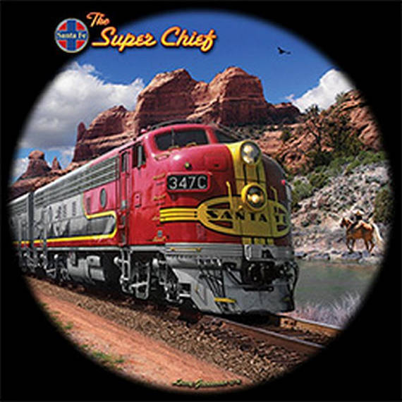 The Super Chief Train Mens Short or Long Sleeve T Shirt 21346D3