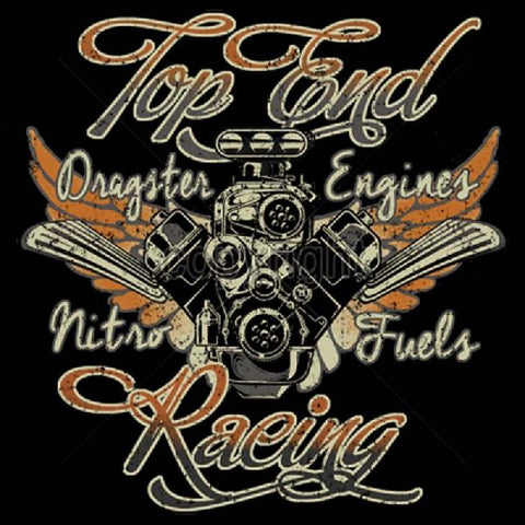 Top End Racing Dragster Engines Nitro Fuels Mens Short or Long Sleeve Car T Shirt 17042T