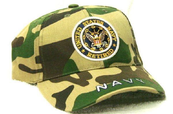 Vintage United States Navy Retired Low Profile Ball Cap Never Worn