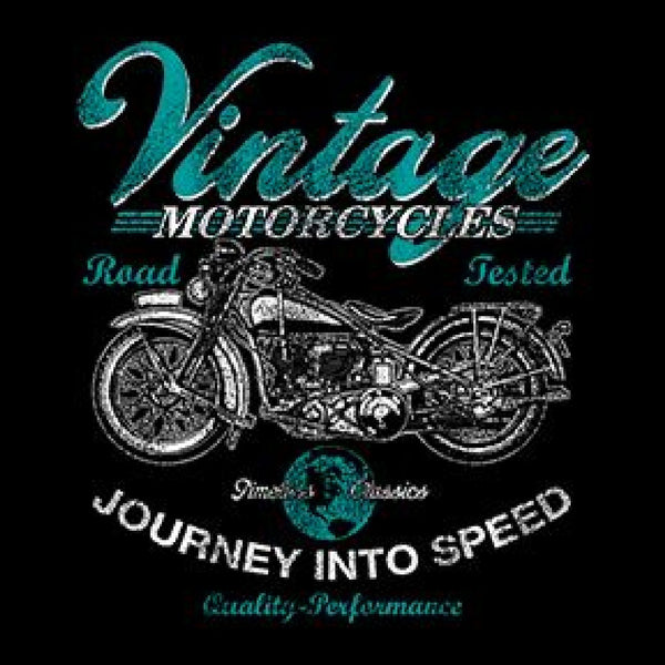 Vintage Motorcycles Road Tested Adult Unisex Quality Motorcycle Long or Short Sleeve T Shirt 17027