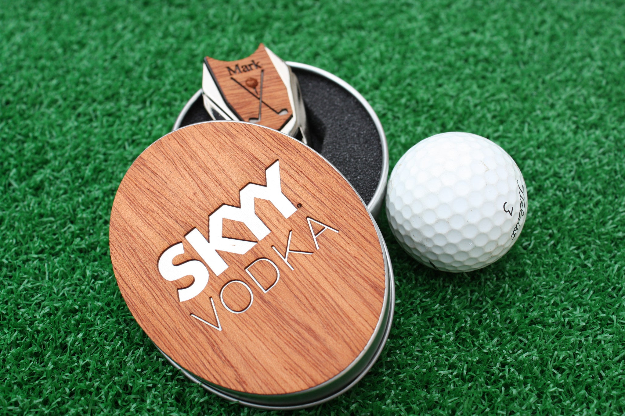 Qty 65 Your Company Logo On Golf Ball Marker And Divot Tool With Tin The Quintessential Hostess