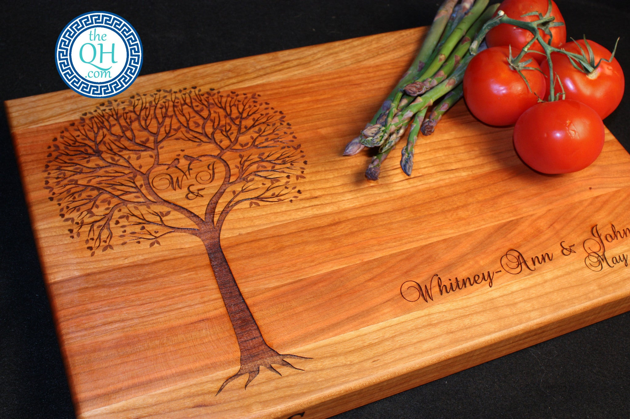 Personalized Cutting Board Boos Wedding Heart Tree The Quintessential Hostess