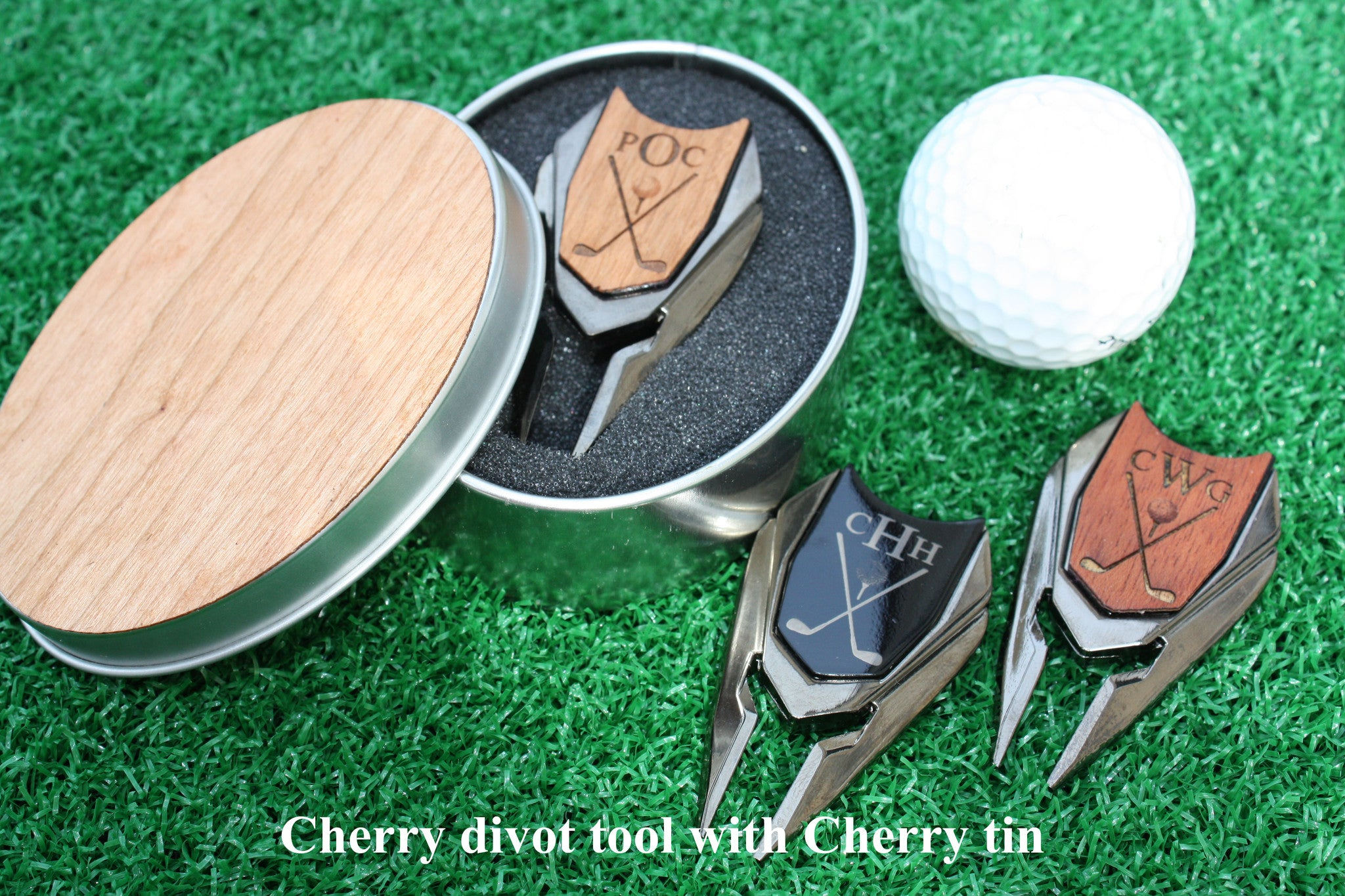 Golf Ball Marker And Divot Tool With Tin Monogram Personalized The Quintessential Hostess