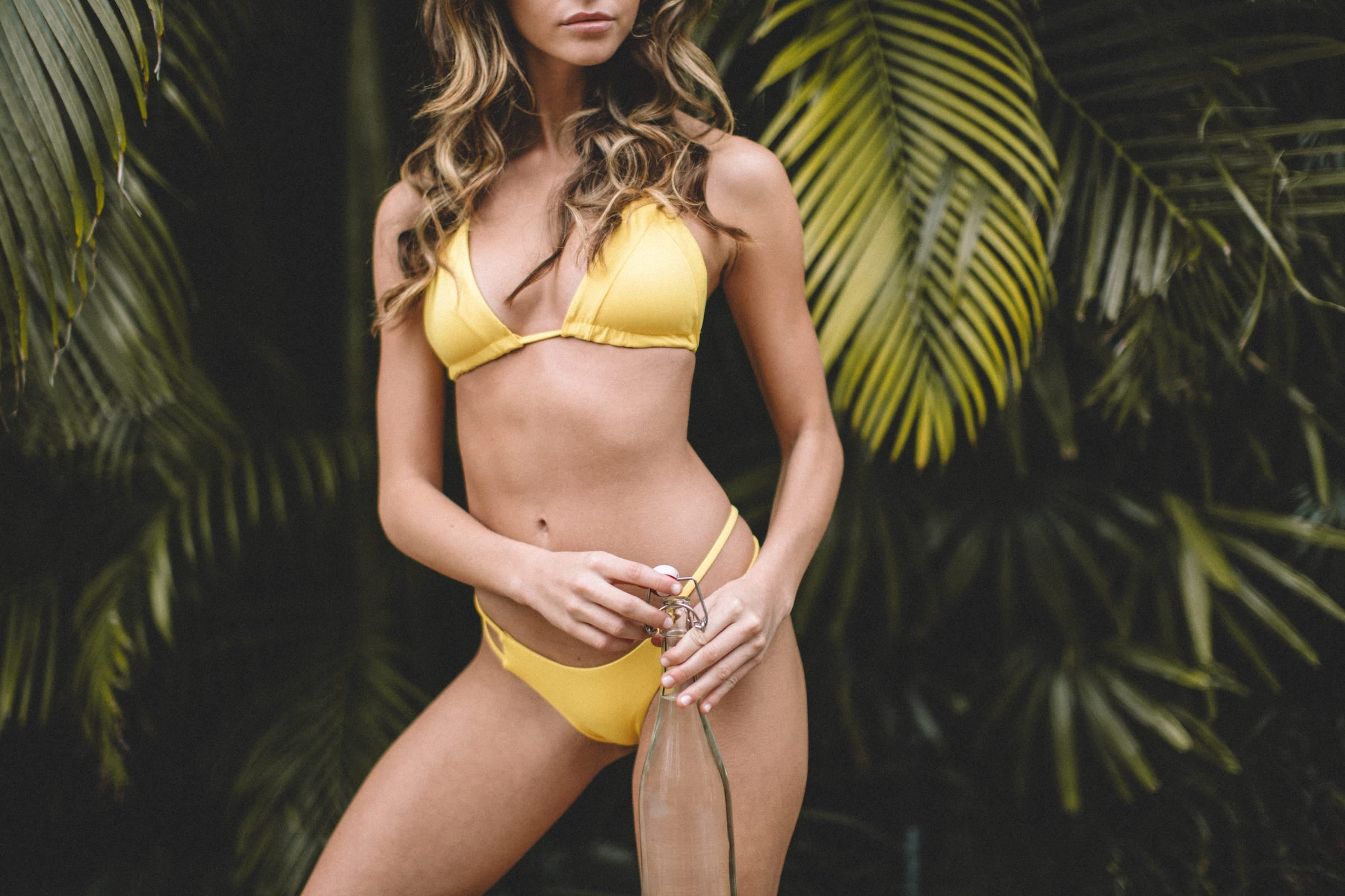 Crisp Bikini Top and Tingle Bikini Bottom in Banana