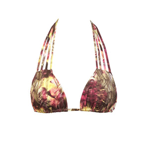 Chillax Bikini Top in Desert Lizard by Tuhkana Swimwear
