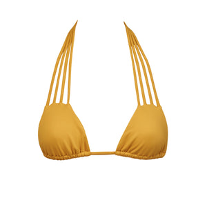 Chillax Bikini Top in Honey by Tuhkana Swimwear