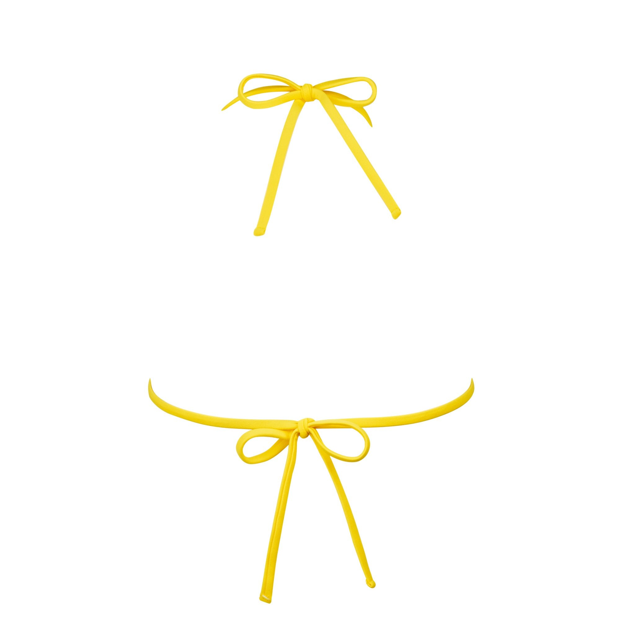 Crisp Bikini Top in Banana by Tuhkana Swimwear