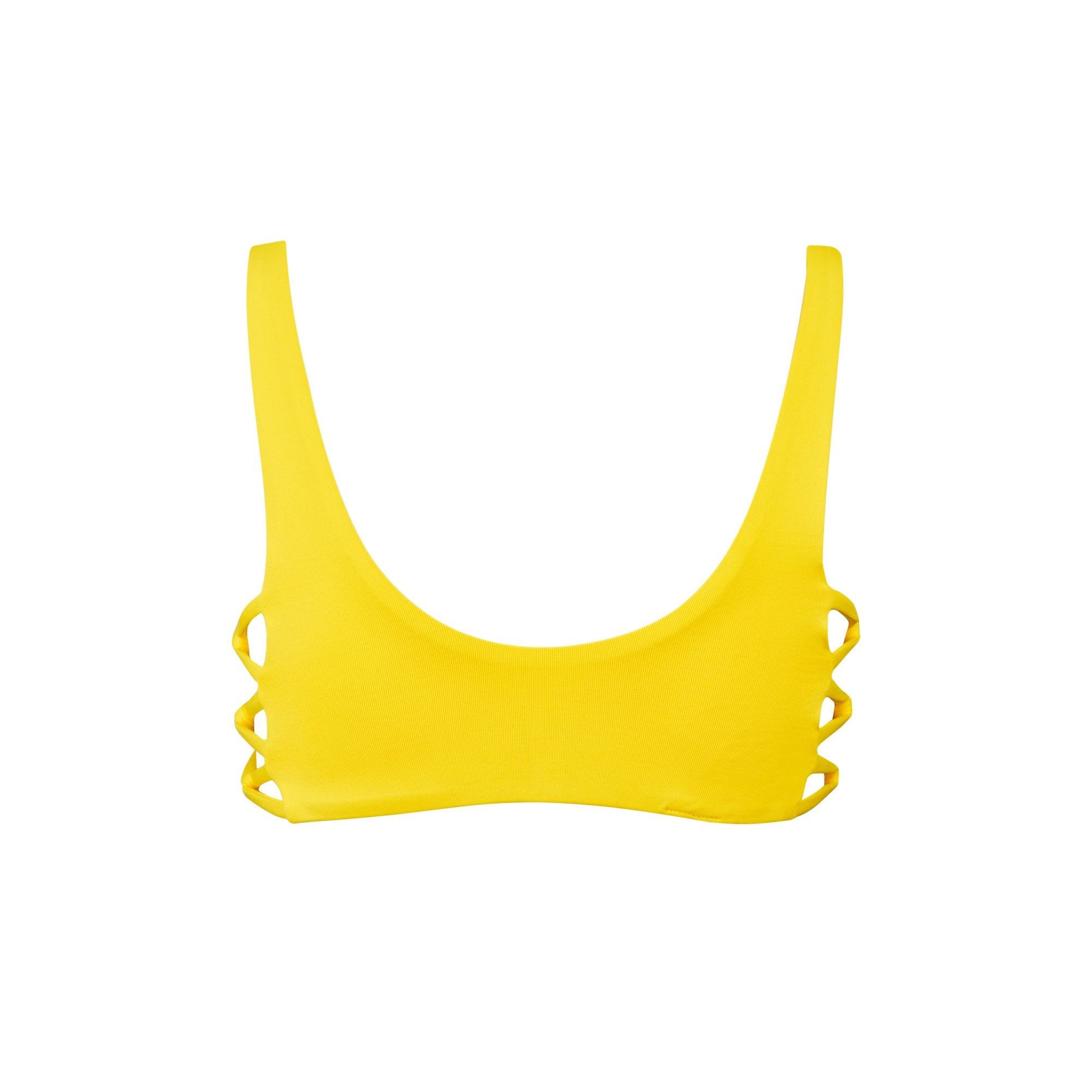 Fizz Bikini Top in Banana by Tuhkana Swimwear