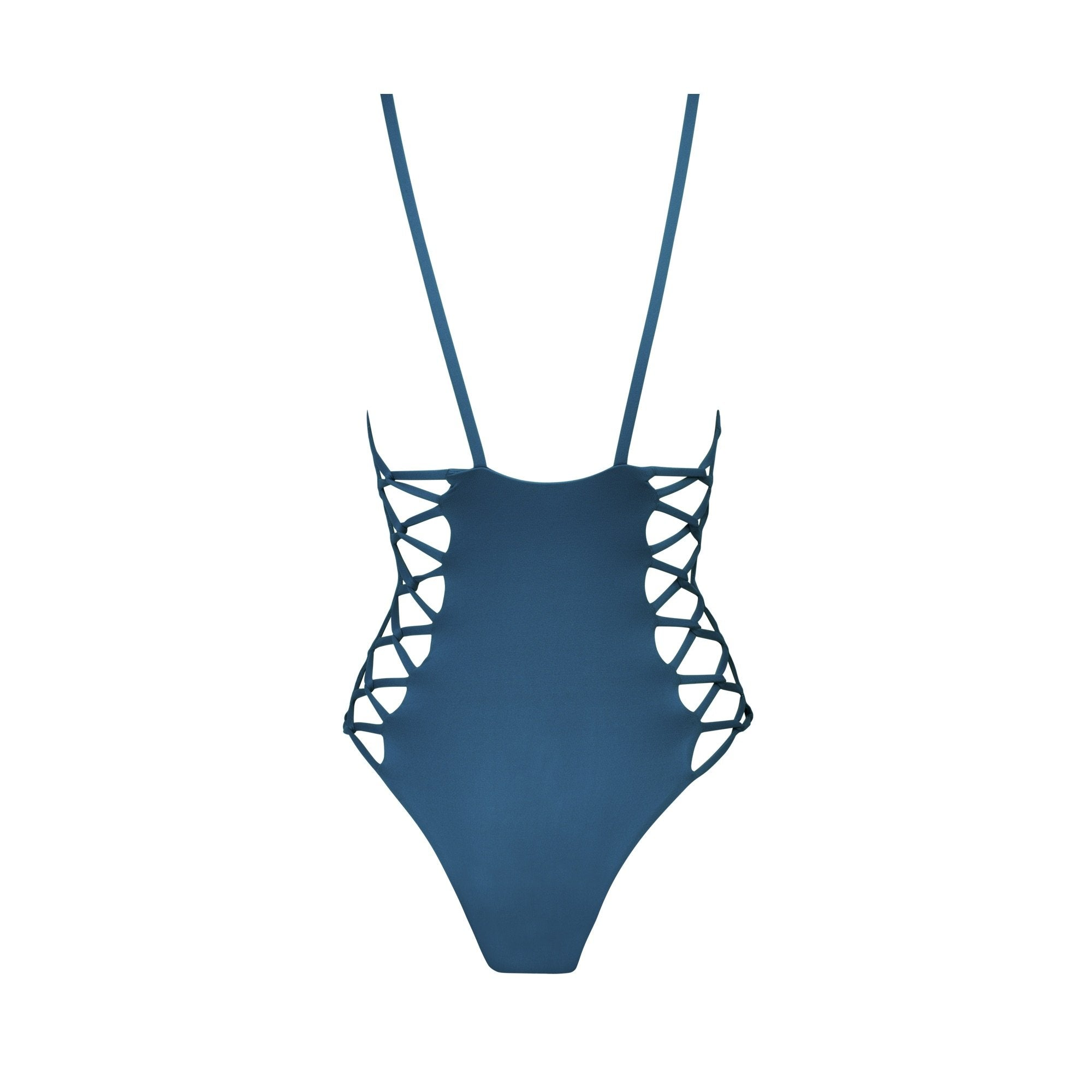 Maze One Piece Swimsuit in Atlantic Blue - Tuhkana