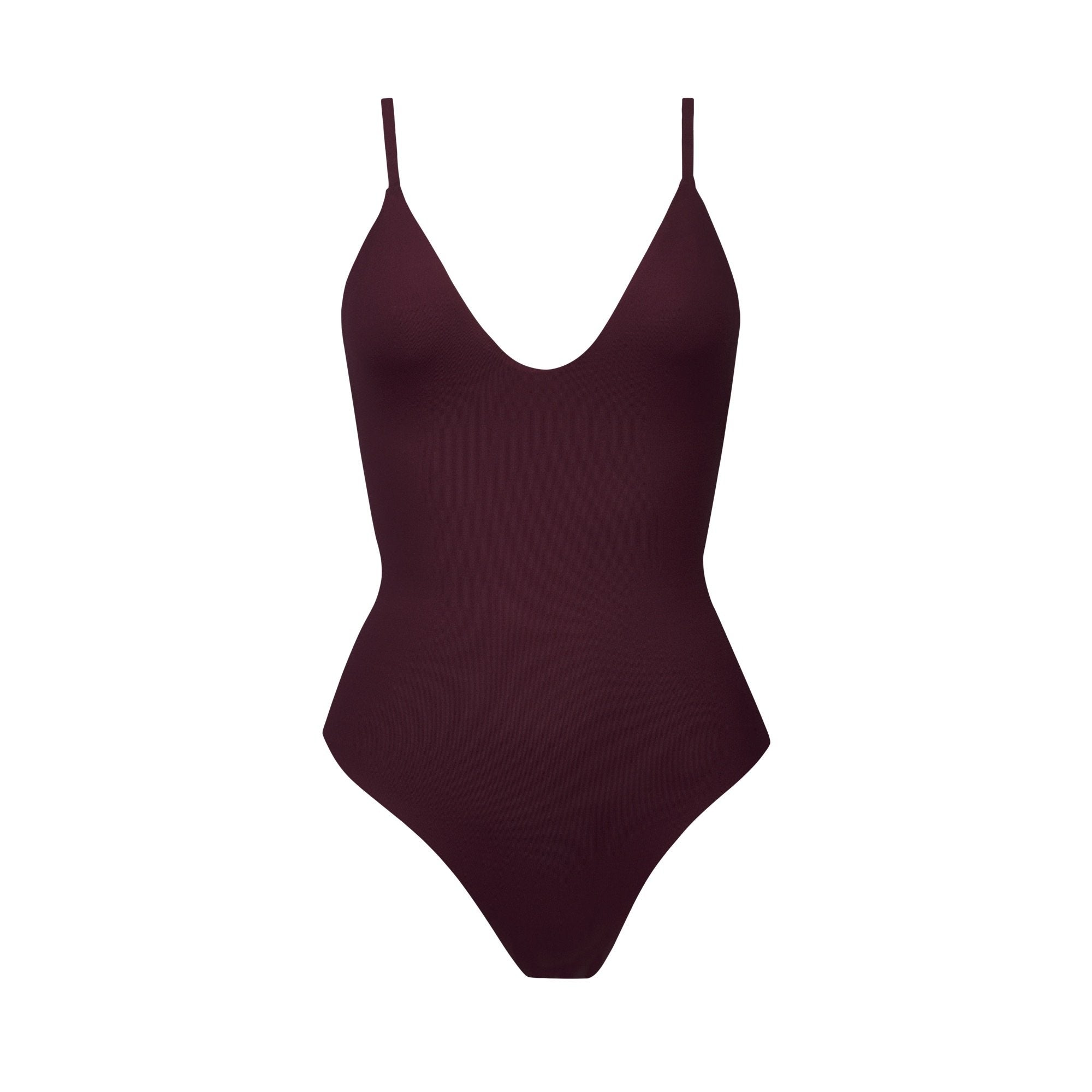 Maze One-Piece in Maroon by Tuhkana Swimwear