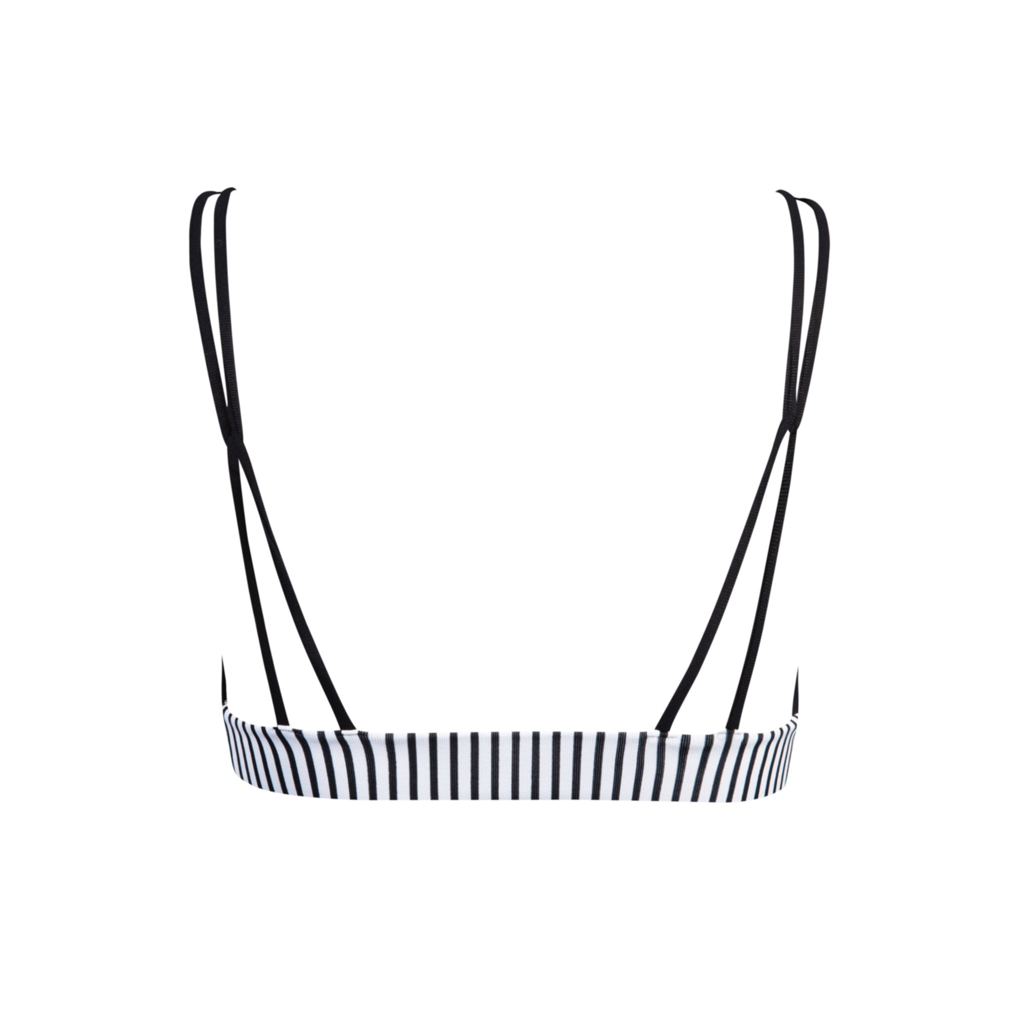 Springs Bikini Top in Black & Between Lines - Tuhkana