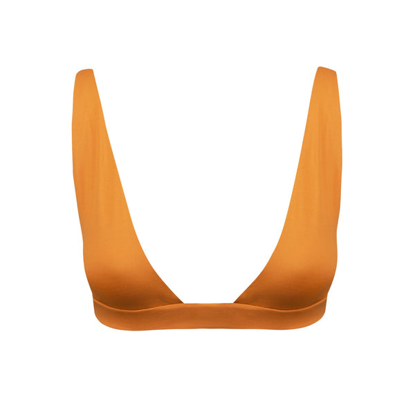 Springs Bikini Top in Pumpkin - Tuhkana