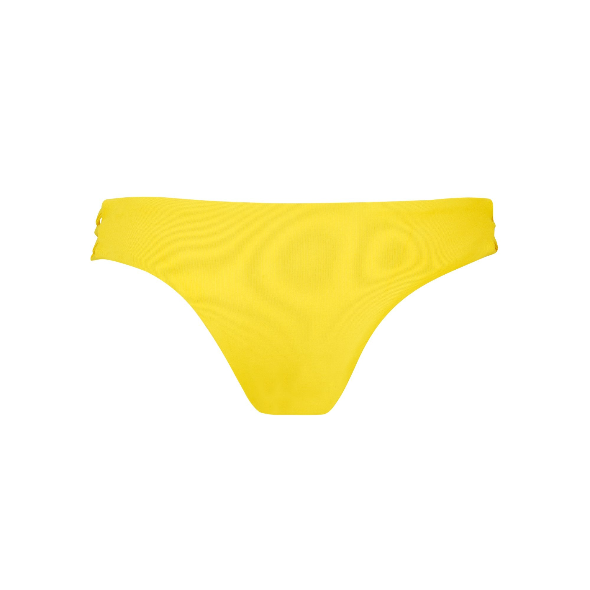 Tangled Bikini Bottom in Banana by Tuhkana Swimwear