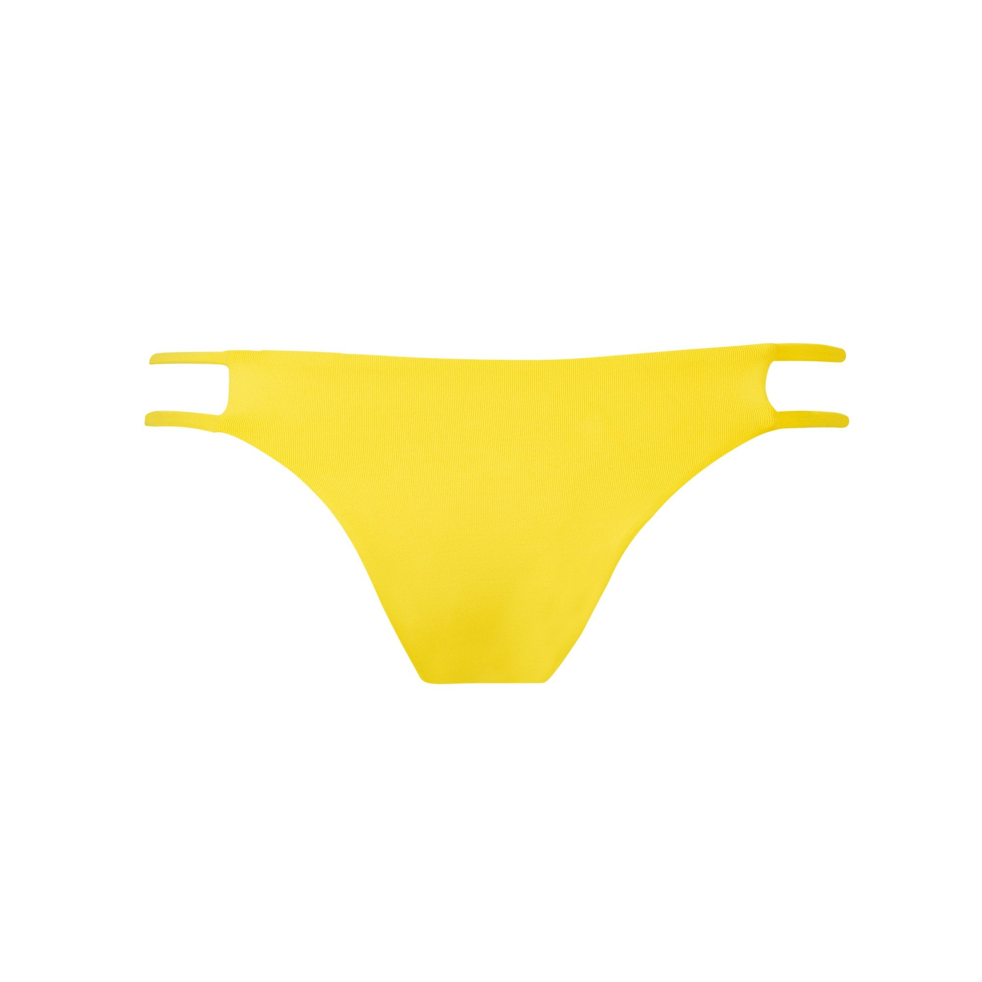 Tingle Bikini Bottom in Banana by Tuhkana Swimwear