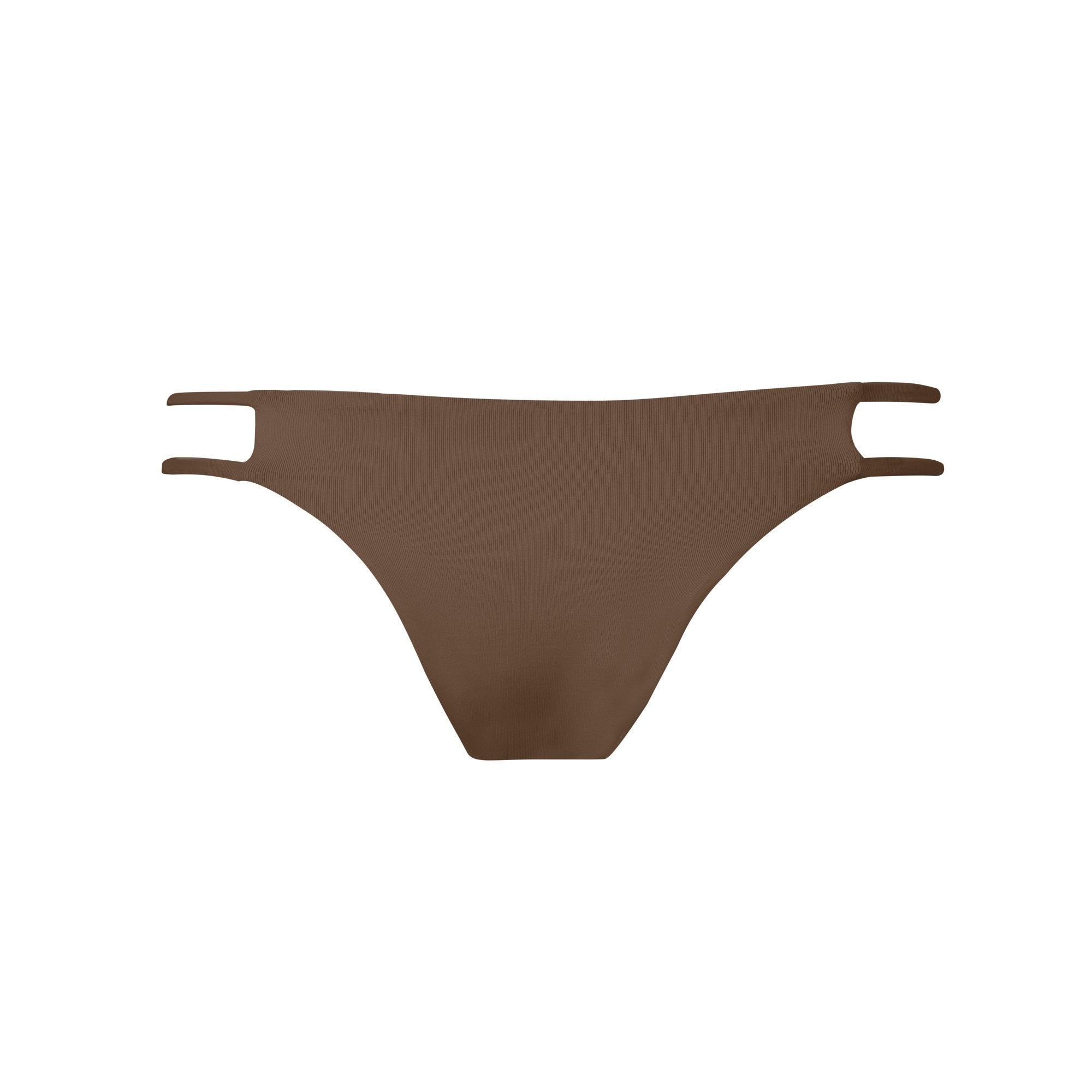 Tingle Bikini Bottom in Mocha by Tuhkana Swimwear