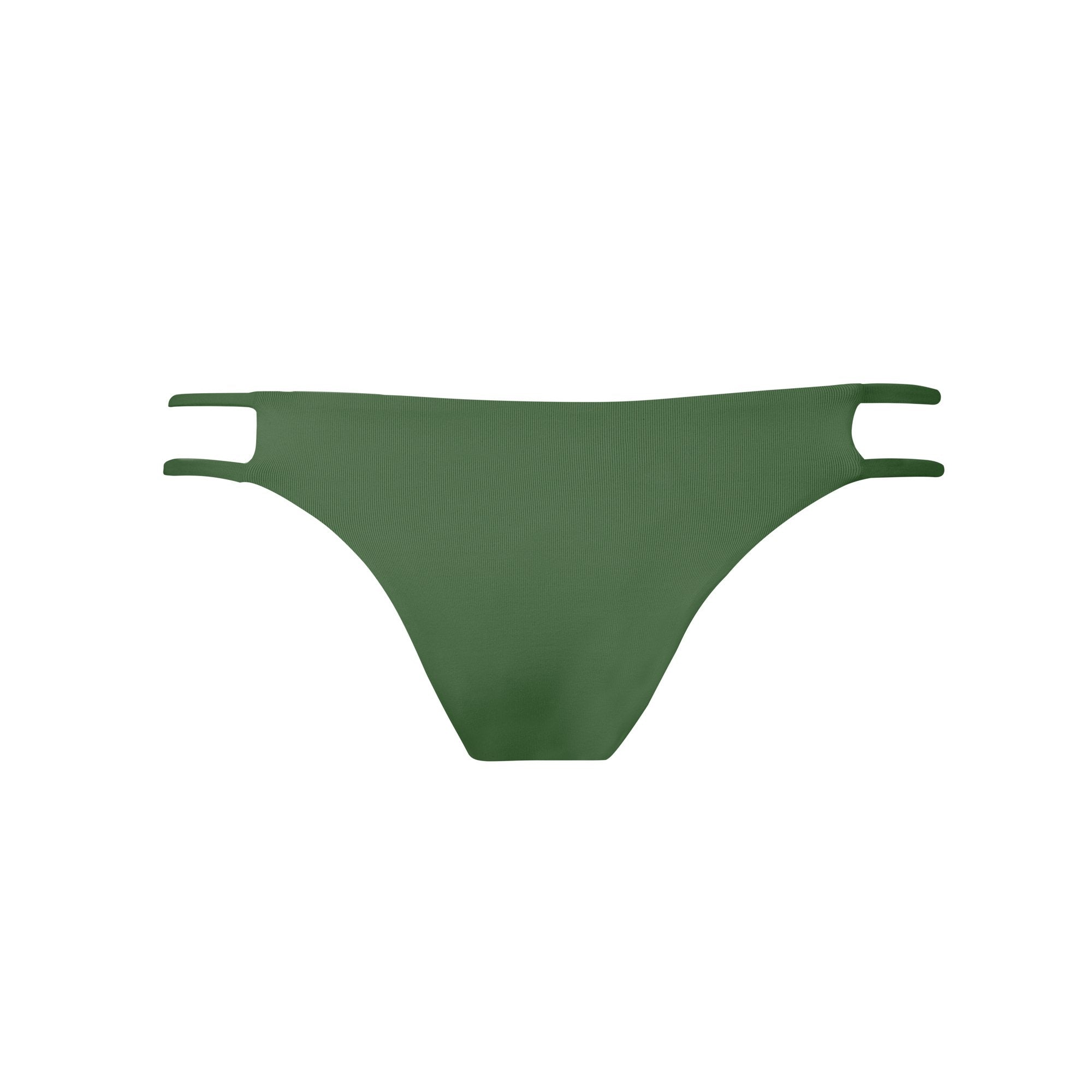 Tingle Bikini Bottom in Olive by Tuhkana Swimwear