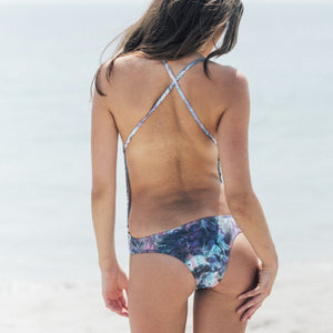 Laze One-Piece in Tropical Lizard by Tuhkana Swimwear