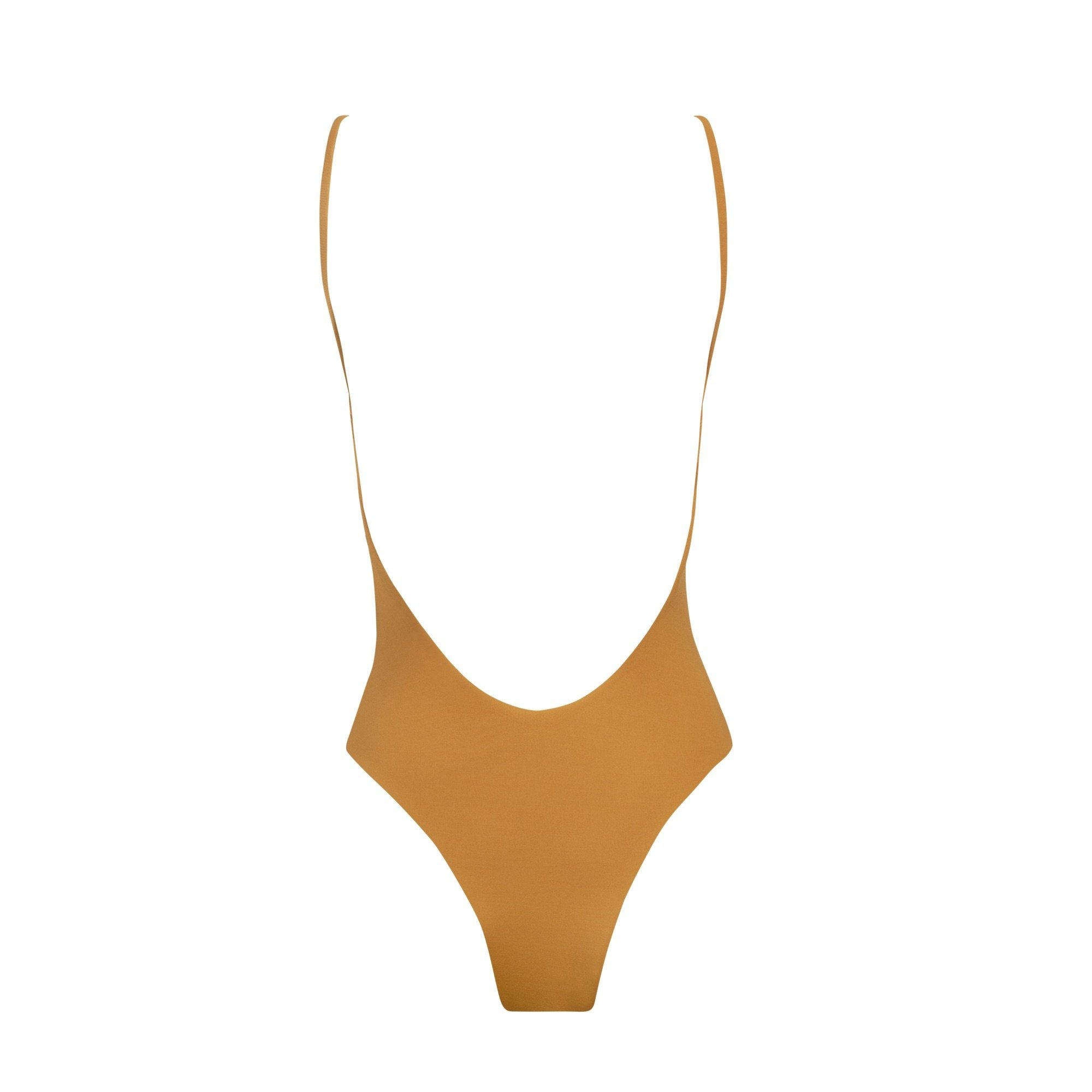 Valley One Piece Swimsuit in Pumpkin by Tuhkana Swimwear
