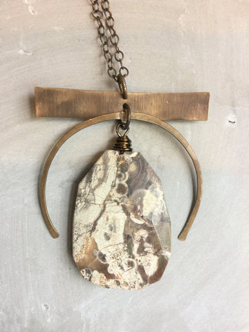 Silverleaf Jasper Statement Necklace