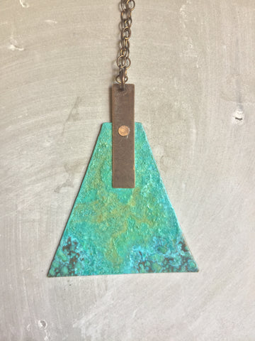 Patina Trapezoid Necklace