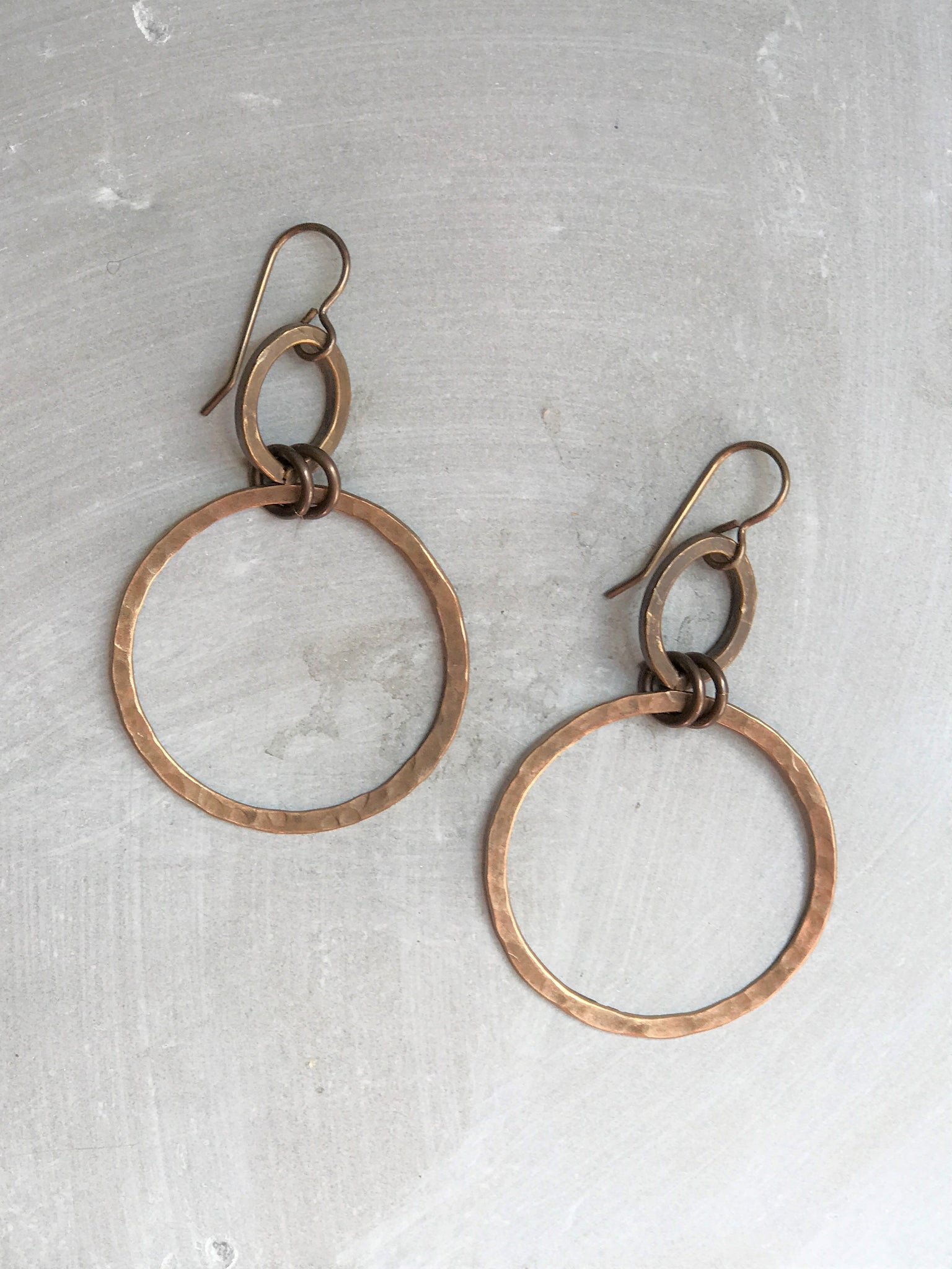 Large Oval & Hoop Earrings